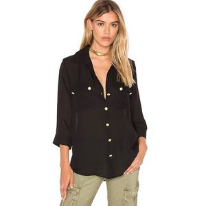 L'AGENCE Pauline Silk Button Up Top